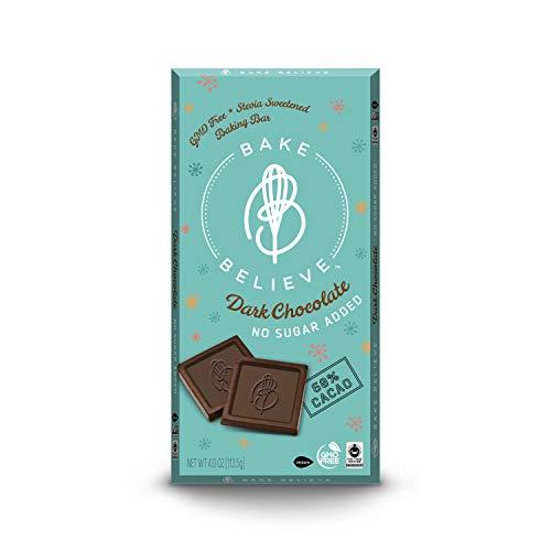 Bake Believe Baking bar 4 Oz , Dark Chocolate, 48 Ounce, (Pack of 12)