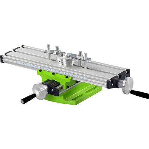 Compuesto Mesa de Trabajo fresadora Mini metal Torno de corredera deslizante tornillo de la tabla Mesa de trabajo para el fresado de perforación de bancos multifunción ajustable X-Y