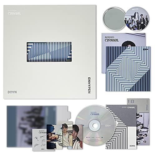 ENHYPEN 2nd Mini Album - BORDER : CARNIVAL [ DOWN ver. ] CD + Photobook + Lyric Book...