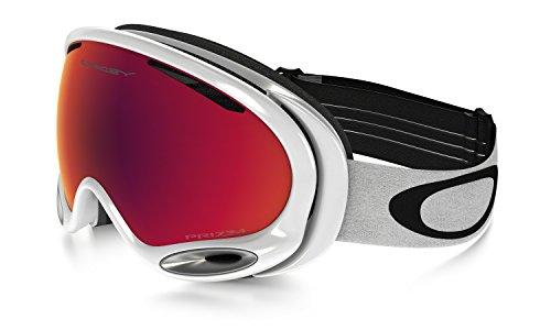 Oakley A Frame 2.0 Masque de ski Polished White/Prizm Torch Iridium