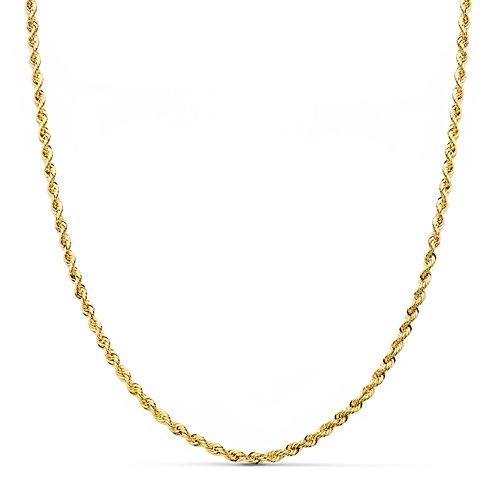 Cordón Salomónico Oro amarillo 18k 50cm 2mm