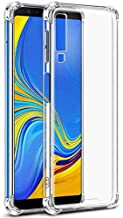 Bracevor Shockproof TPU Back Cover for Samsung Galaxy A7 2018 - Transparent | Cushioned Edges | Flexible Clear Case