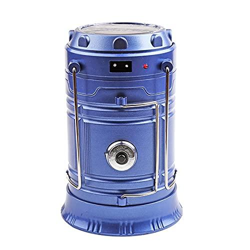 N\P Lámpara Resistente Al Agua IPX4, Linterna Portátil para Acampar, Iluminación Portátil De Emergencia LED para Acampar, Senderismo, Emergencia 140 (200) × 92 × 79 ± 5mm/Azul