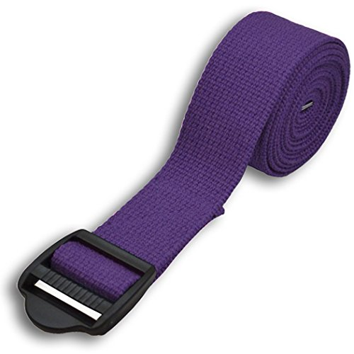 YogaAccessories 8' Cinch Buckle Cotton Yoga Strap