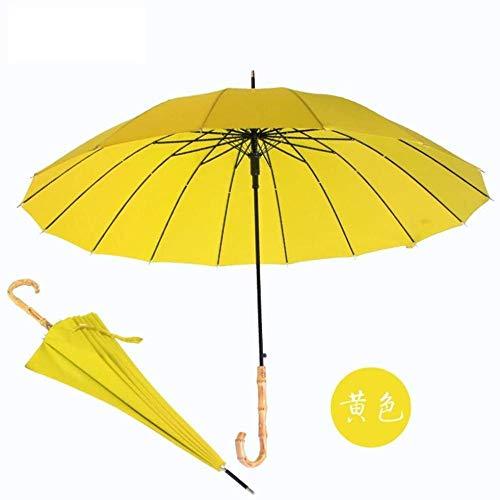 Regenschirm, Sonnenschirm, Langer Griff, Gerader Regenschirm, Bambusgriff, Regenschirm, Sonnenschirm, Werbegeschenk-? Regenschirm Sturmsicher Lightweight Wunderschönen Rutschsicherem Premium Qualität