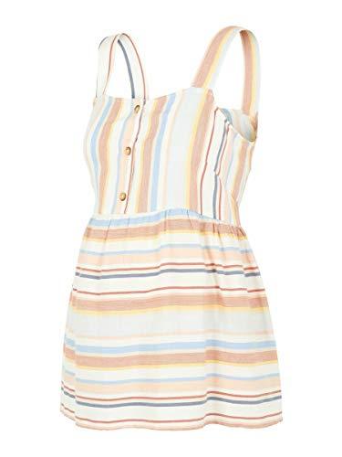 MAMALICIOUS Damen MLAPRILIA S/L Woven TOP A. T-Shirt, Stripes:Multicolor Sesame, M