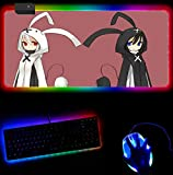RGB Mouse Pad Black Rock Shooter RGB led Strip Lights Gaming Mouse Pads Game Anime Large Mouse Mat Computer Gamer Locking Edge Mouse Pad A XXL