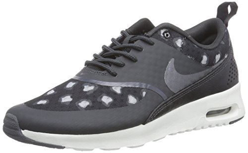 Nike Air Max Thea Print Damen Sneakers, Grau (Black/Dark Grey-Anthracite-Wolf Grey-Summit White), 36.5 EU