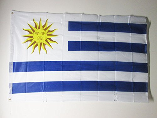 AZ FLAG Flagge Uruguay 150x90cm - URUGUAYISCHE Fahne 90 x 150 cm Aussenverwendung Metallösen - flaggen Top Qualität