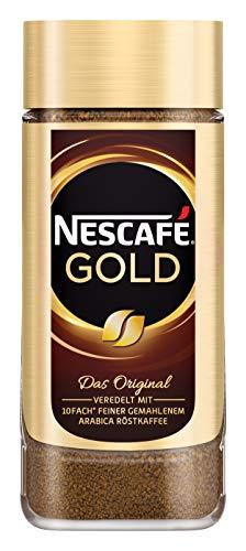NESCAFÉ GOLD Original, löslicher Bohnenkaffee aus erlesenen Kaffeebohnen, koffeinhaltig, vollmundig und aromatisch, 1er Pack (1 x 100g)
