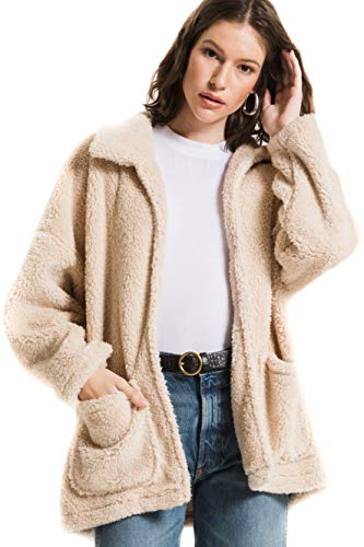 The Sherpa Teddy Bear Coat (Extra Large, Pearl)