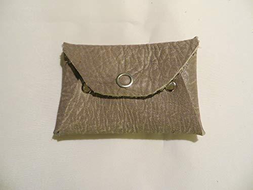 Visitenkartenetui aus Leder Büffel antik grau, Geldbörse, Kreditkartenetui