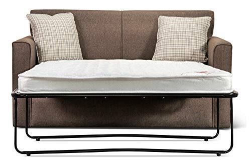 Metal action 2 Seater folding sofabed bed settee.Sofa pull out couch bed.Upholstered fabric, choice of colours