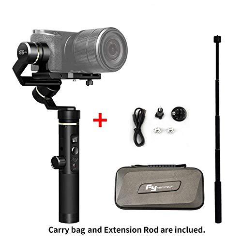FeiyuTech G6 Plus 3-Axis Handheld Gimbal Stabilizer for Smartphone,Gopro,Canon Sony Micro Single (G6 Plus with Extension Rod)