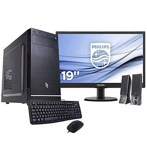 Pc desktop intel quad core,ssd 240 Gb,Ram 8gb,Windows 10 Pro Computer fisso,Pc fisso intel, completo casa ufficio,Monitor 19'con accessori assemblato