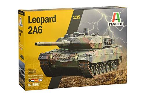 Italeri 6567S 6567S-1:35 Leopard 2A6 - Maqueta de construcción de maqueta (construcción de Modelos, Manualidades, aficiones, Pegamento, Kit de Montaje de plástico, sin lacar)