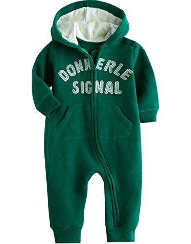 Vaenait bébé 0–24 m Infant Polaire à Capuche Romper d'hiver à Capuche pour garçon Good Color - Vert - L