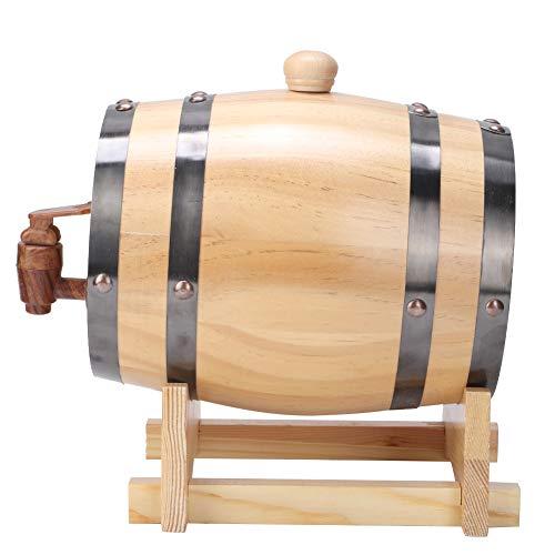 ROSEBEAR Dispensador de Barriles de Vino de Madera de Estilo Vintage Equipo de Elaboración de Cerveza Casera para El Hogar 1. 5L