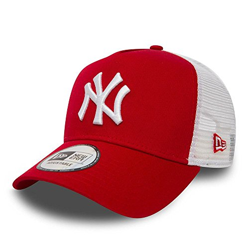 New Era ERA Clean Trucker 2 Gorra, Unisex Adulto, Rojo,