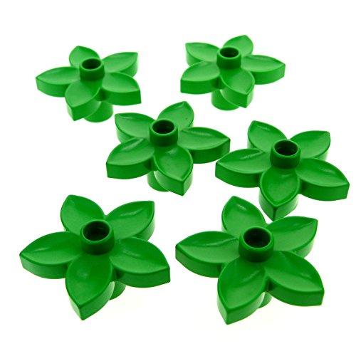 6 x Lego Duplo Pflanze Blüte bright hell grün Blume Blätter für Set 10516 6157 10566 4966 10514 9225 5947 6510