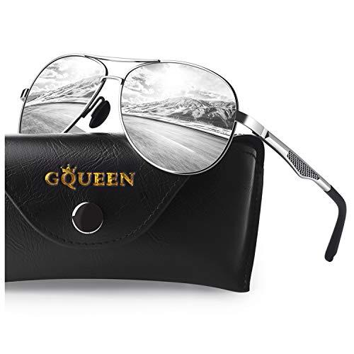 GQUEEN Sunglasses Man Pilot Pola...