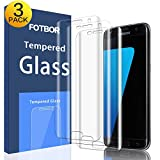 [3-Pack] Galaxy S7 Edge Screen Protector Tempered Glass, CTREEY Full Coverage [Case Friendly] HD Clear Screen Protector for Samsung Galaxy S7 Edge [Edge to Edge][Anti-Bubble ] (Glass (Ultra-Clear))