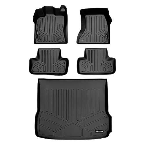 MAXLINER Floor Mats 2 Rows and Cargo Liner Set Black for 2009-2017 Audi Q5 Non Hybrid / 2014-2017 SQ5