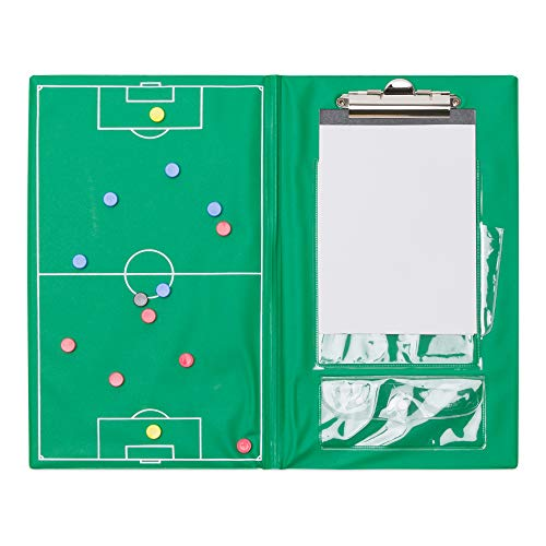 Champion Sports Magnetic Soccer Clipboard Set (Green)