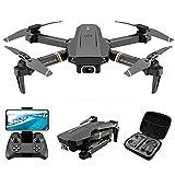 Dron con cámara 4K UHD con estuche de transporte para niños adultos, helicóptero Quadcopter plegable con video HD para principiantes, gran área de control, modo sin cabeza, control de gravedad