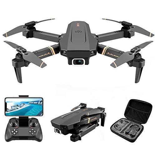 BAHER V4 RC Drone - 4K 1080P HD Dual Camera WiFi Pieghevole Quadcopter con La Wide Angle FPV Video dal Vivo Super Stabile App di Controllo Altitudine Hold Trasmissione in Tempo Reale