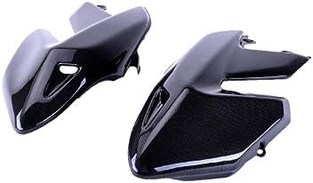 Bestem CBDU-HPMTD-FKC Black Carbon Fiber Fork Covers for Ducati Hypermotard 796//1100