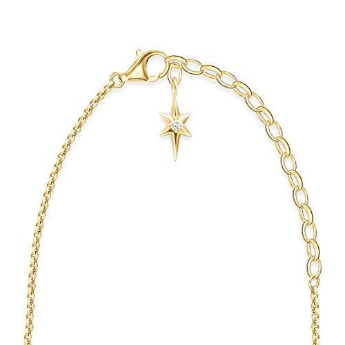 Thomas Sabo Women Vermeil Pendant Necklace - KE1893-488-7-L45v
