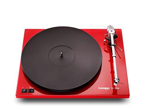 Thorens TD 203 High End Plattenspieler inkl. Ortofon 2M Blue MM-Tonabnehmer | Rot