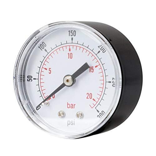 Gazechimp 0-300psi 0-20bar Manomètres Testeur de Pression pour Airless Peinture Outil de Mesure TS-Y50Z8