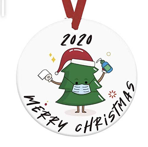 Christmas Ornament Decorations Set of 3 Memories Hanging Holiday Decor Mask Grinch That Stole Xmas Survivor Office car Santa Claus Tree Ornaments Decoration Family and Friends 2020 Good Gift Present