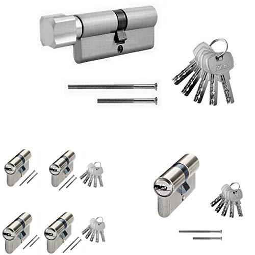 Zylinderschloss Tür Gleichschließend Türschloss Knaufzylinder Profilzylinder Neu (Profilzylinder, 70mm 35/35)
