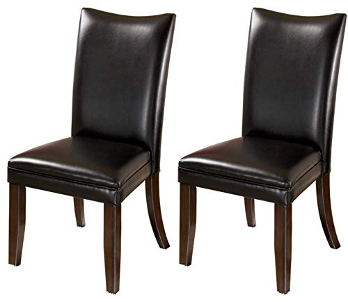 Signature Design by Ashley - Charrell Dining Upolstered Side Chair - Set of 2 - Contemporary Style - Black