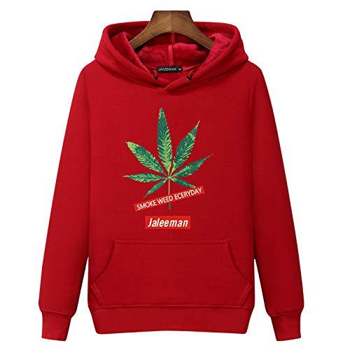 Hombre Sudadera con Capucha Colores De Contraste Camiseta Manga Larga Otoño Hoodie Pullover Sweatshirtred5Xl