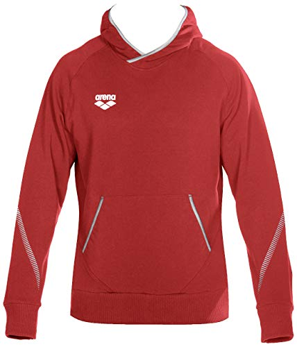 Arena Standard Team Line Fleece Long Sleeve Hoodie for Men and Women, Red, M