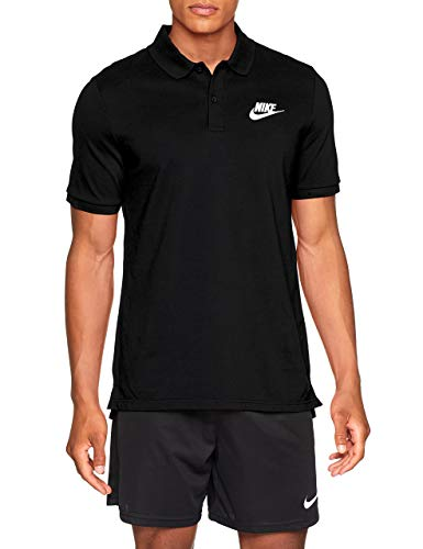 Nike Polo Matchup Homme, Black/White, FR (Taille Fabricant : XL)