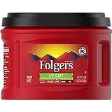 Folgers 1/2 Caff Medium Roast Ground Coffee, 21.6 Ounces (Pack of 3)