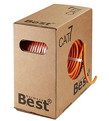 CAT.7 100m Simplex Verlegekabel BEST Gigabit Netzwerkkabel KUPFER Lan 1000Mhz S/FTP KAT 7