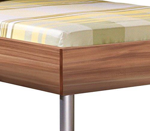 CS Schmal 65/160 Bett   In Nussbaum   96 x 206 x 76 cm