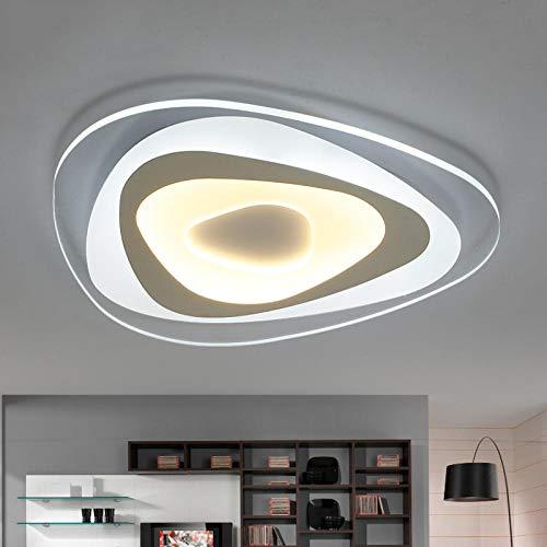 Ultradünnes oberflächenmontiertes Dreieck Moderne LED-Deckenleuchtenlampe für Wohnzimmer Schlafzimmerleuchten de Deckenleuchte-Weiß_Dia50cm_Dia20cm_Warm white_China
