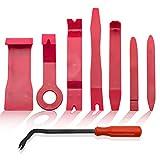 BeiLan 8 Pièces Outils pour Garnitures, Outil Démontage Garniture Installation Kit Outils pour Panneau/Autoradio/Accessoires/Porte/Tableau de Bord de Voiture, Installateur Pry Outil