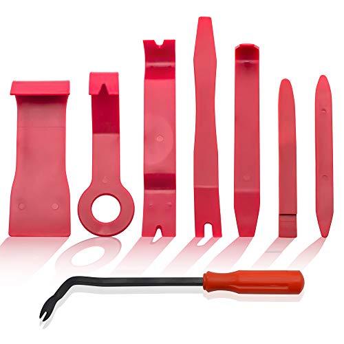 BeiLan 8PCS Coche Herramientas de Desmontaje Kit para Desmontar el Audio Vehículo Interior Recubrimiento Desmontaje