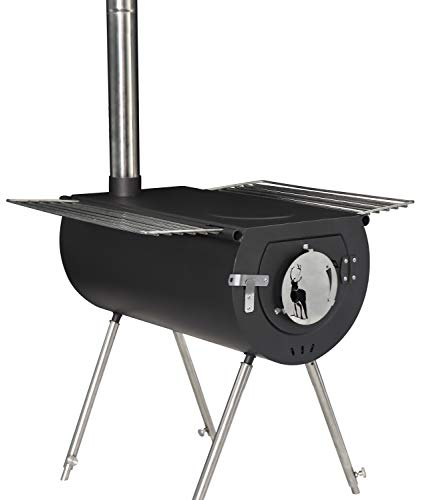 US Stove CCS14 Caribou Backpacker Portable Camp Stove - 14 Inch, Black, Small