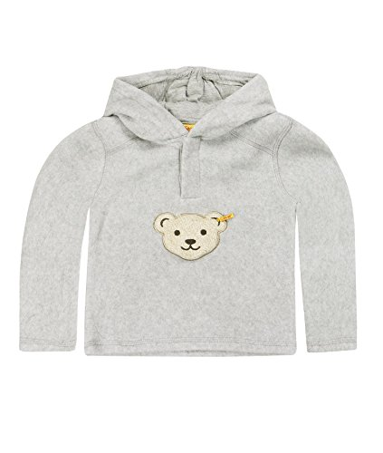 Steiff- Sweat-shirt - À capuche - Manches longues - Mixte bébé, Gris (Softgrey ), FR: 4 ans (Taille fabricant: 104)