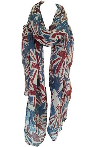 World of Shawls UK Flag Print Scarf Union Jack Womens...