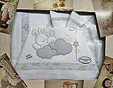 Lenzuola da Lettino per bambino 100% made in Italy (Set da 3 Pezzi: Sopra+Federa+sotto c/a...